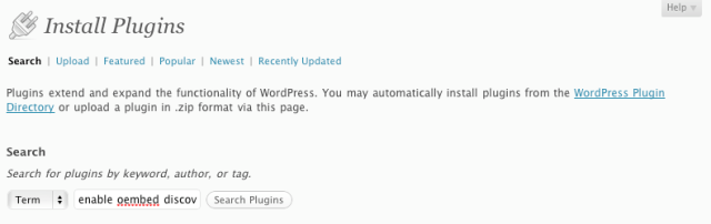 WordPress Plug-in Search