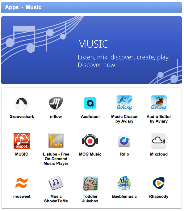 Featured Music App in the Google Chrome Web Store – The